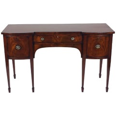 Regency Period Mahogany Shaped Front Sideboard