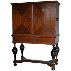 Baroque Mahogany Swedish Cabinet on Stand, Origin: Stockholm, Sweden, Circa 1740