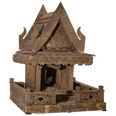 Spirit House from Northern Thailand, Teak, Mid-Late 20th Century
