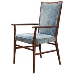 Paul McCobb Connoisseur Line Walnut Armchair Accent Chair Original Upholstery