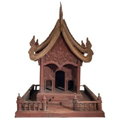 Large Spirit House from Northern Thailand, Teak, Mid-20th Century