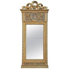 Eric Wahlberg 18th Century Gustavian Mirror, Signed Stockholm, 1792