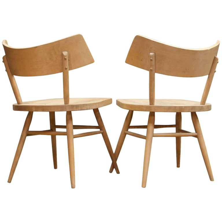 1950s Edmond Spence Swedish Origami Bat Wing Accent Chairs Pair of Architects