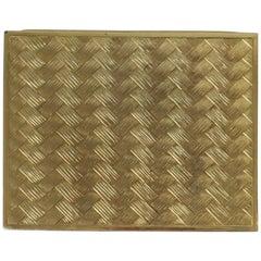 Vintage Gold Tone Decorative Box