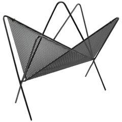 Documented Mathieu Mategot Magazine Holder Rack Black Perforated Metal