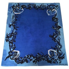 "Zao Wou Ki ""Nocturne"" Rug, 1986, Artcurial Editions of 100"