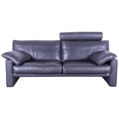 Erpo CL 300 Leather Sofa Grey Three-Seat Couch