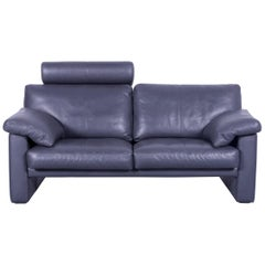 Erpo CL 300 Leather Sofa Grey Two-Seat Couch