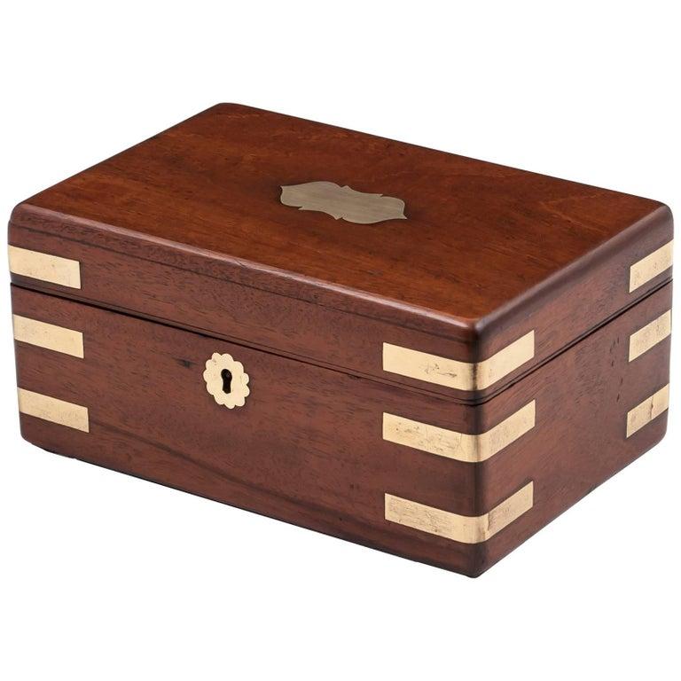 Antique Storage Jewellery Trinket Box 19th Century