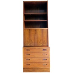 Rio Rosewood Bookshelf and Cabinet Danish Midcentury by Poul Hundevad, 1960s