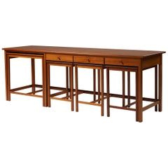 Sideboard with Four Nesting Tables Designed by John Kandell