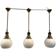 Three Pieces of a 19th Century Antique Gas Pendant 1860-1880 from France