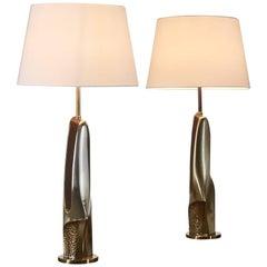 Pair of 1960s Brutalist Lamps