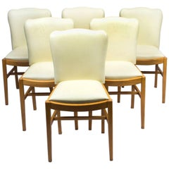 1930s Set of Six Art Deco Bird's-Eye Maple Dining Chairs