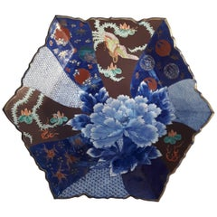 Large 19th Century Imari Hexagonal Charger
