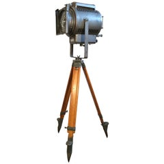 Industrial Theatre Spotlight Tripod Lamp