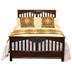 Mahogany Panelled Bed, WD24
