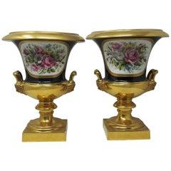 Pair of 19th Century Paris Campana Vases