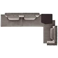 Fiona Modular Sofa by Massimo Castagna in Fabric or Leather/Gallotti and Radice