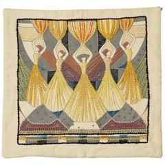 Pillow Case by Ilse Claesson, Sweden, 1930s
