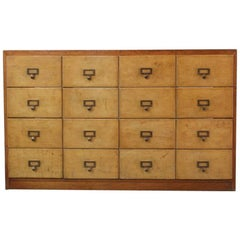 Bank of Wooden Haberdashery Drawers, circa 1930s