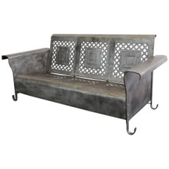 Steel Porch Bench by The Bunting Glider Co., circa 1930s