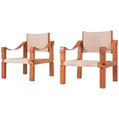 Pierre Chapo Rare Set of S10 Armchairs in French Elm, 1964