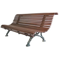 19th Century Arts & Crafts French Park Bench
