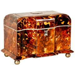Regency Period Tortoiseshell Tea Caddy