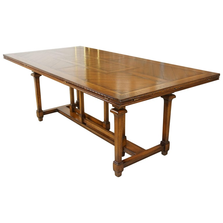Wooden Marquetry Modular Dining Table