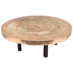 "Circular Bronze ""Goutte d'eau"" Table by Ado Chale, Belgium, 1970s"