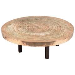 """Circular Bronze """"Goutte d'eau"""" Table by Ado Chale, Belgium, 1970s"""