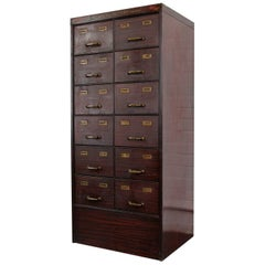American Faux Wood Sewing Drawers, circa 1910
