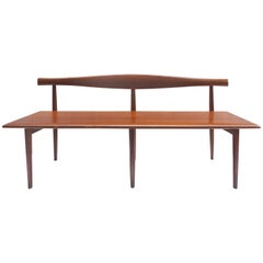 Rare Sculptural Mid-Century Modern Bench by Kipp Stewart for Winchendon Company