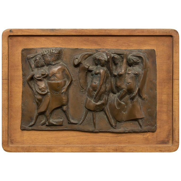 Edgar Britton Bronze, Untitled 'Herod and Salome', circa 1968 Bas-Relief