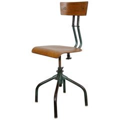 French Industrial Machinists Chair, circa 1950s