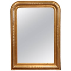 19th Century French Louis Philippe Two-Tone Gilt and Silver Leaf Wall Mirror