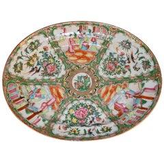 19th Century Rose Medallion Platter