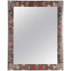 Coquillage Decoupage Mirror