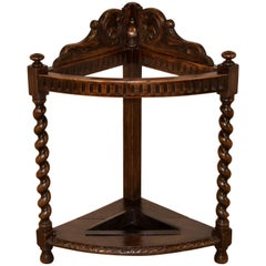 19th Century English Oak Umbrella Stand