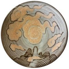 Signed Tessa Fuchs Vintage British Art Studio Pottery Bowl, circa 1980s