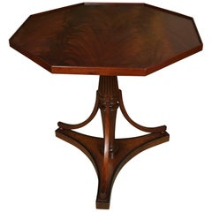 Sheraton Style Side Table with Octagonal Top
