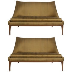Pair of Lawrence Peabody Midcentury Loveseats, Settees or Sofas