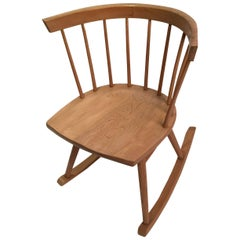 Nakashima Attributed Ercol for Knoll Strait Rocking Chair