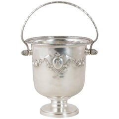19th Century French Louis XVI Style Silver Plate Ice Bucket Owned by a Bonaparte