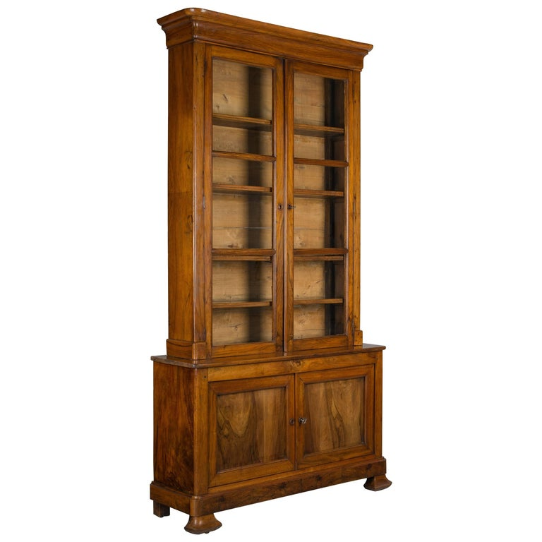 19th Century Louis Philippe Bibliotheque or Bookcase