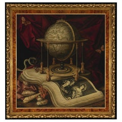 Still Life with Terrestrial Globe, after Baroque Oil Painting by Carstian Luyckx