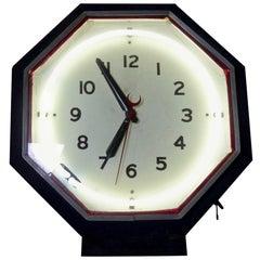 1930s Restored Neon Wall Clock, Neon Products, Lima, Ohio