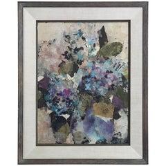 Mixed-Media Floral Art Signed Oshino Okuda