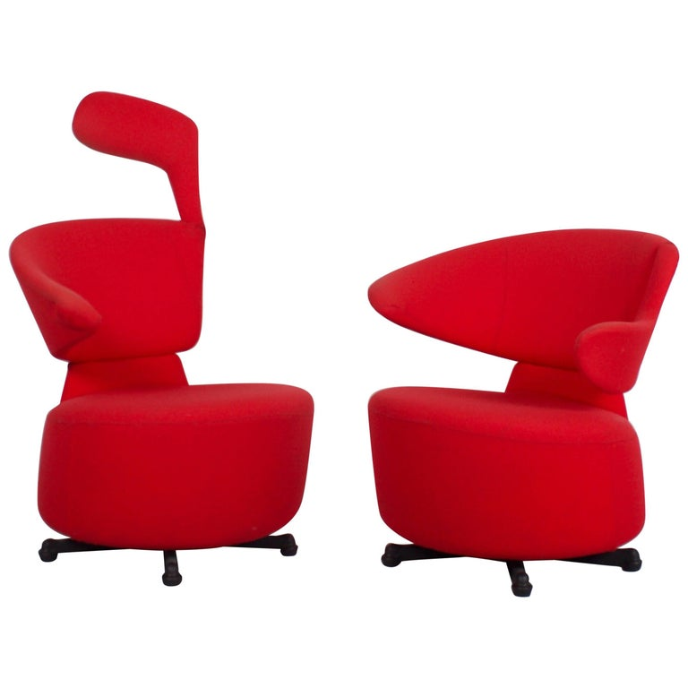 Set of Cassina 'Canta' Swivel Chairs by Toshiyuki Kita
